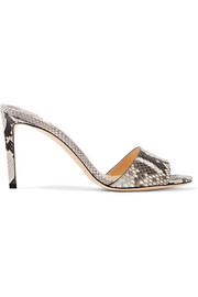 Jimmy Choo Stacey 85 python mules