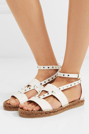 Denise studded leather espadrille sandals