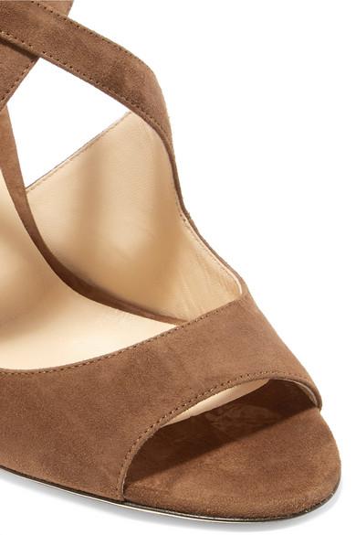 Jimmy Choo Emily 100 Sandalen aus Veloursleder