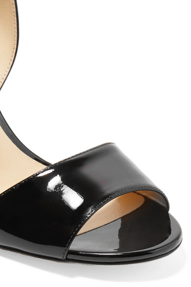 Jimmy Choo Sheila 85 Slingback-Sandalen aus Lackleder Spielraum Veröffentlichungstermine Kosten Billig Verkauf 2018 Wahl Verkauf Online 7Xlkqi