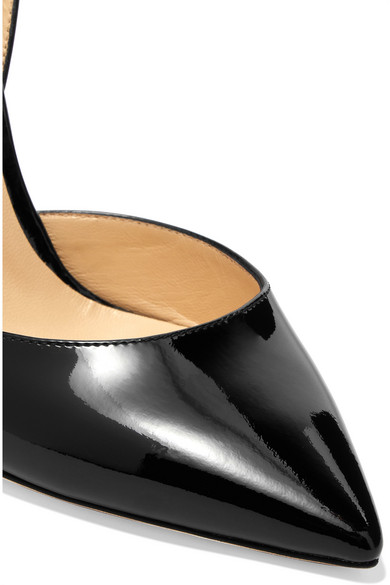 Jimmy Choo Lise 100 Pumps aus Lackleder