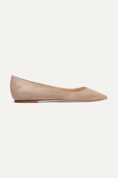 Romy Suede Point-toe Flats - Neutral Jimmy Choo London vLiGo