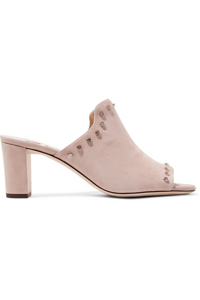 Myla 65 Studded Suede Mules by Jimmy Choo