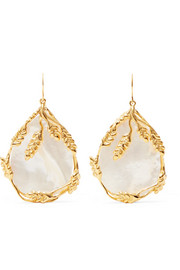 Aurélie Bidermann Francoise gold-plated pearl earrings
