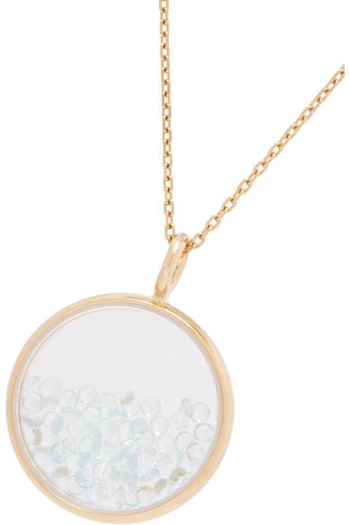 Baby Chivor 18-karat Gold Sapphire Necklace - one size Aur fopCzk