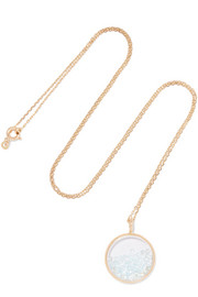 Aurélie Bidermann Baby Chivor 18-karat gold topaz necklace