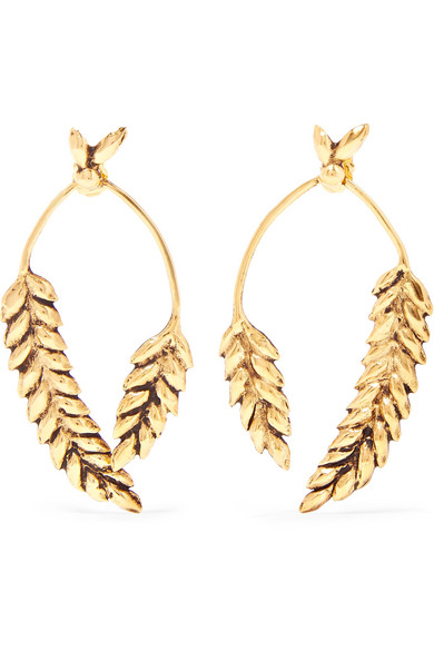 Aurélie Bidermann - Wheat Gold-plated Earrings