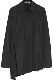 Jil Sander Asymmetric cotton-poplin shirt