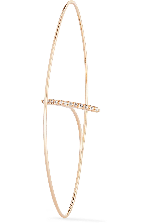 Hirotaka 10-karat gold diamond earring