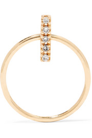 Doorknocker 10-karat gold diamond hoop earring