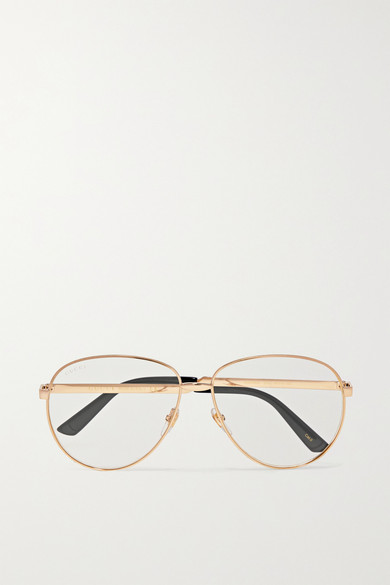 c6e40e7a6 Gucci | Aviator-style gold-tone optical glasses | NET-A-PORTER.COM