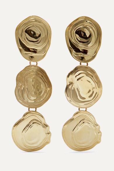 LEIGH MILLER On The Halfshell Gold-Tone Earrings