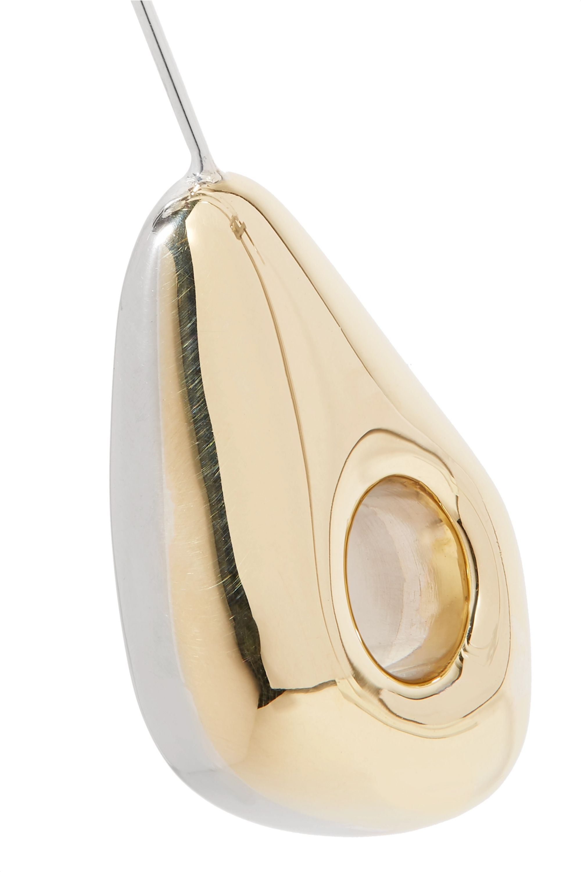 Leigh Miller Hepworth Drop white bronze, gold-tone and silver earrings