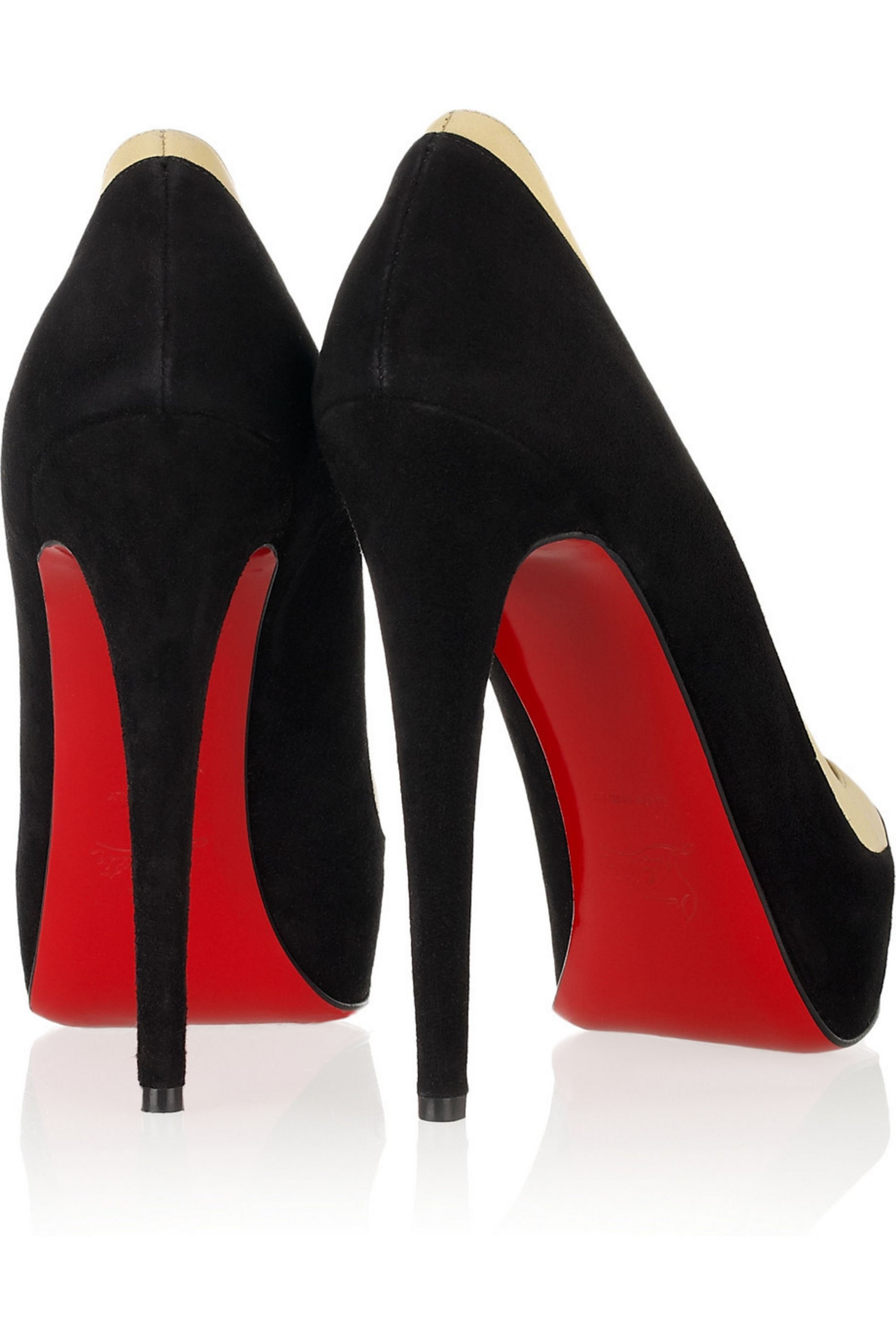 Christian Louboutin David Delfin suede and leather pumps