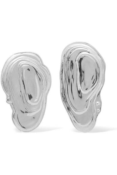 LEIGH MILLER OSTRA SILVER EARRINGS