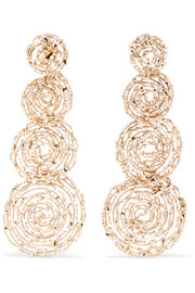 Pizzo gold-tone faux pearl earrings