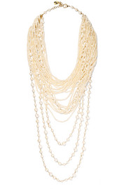 Ribelle gold-tone pearl necklace