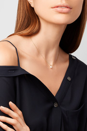 Petite Perle Simple 14-karat gold pearl necklace