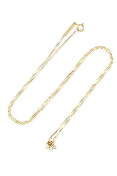 GRACE LEE DIAMOND DOT 14-KARAT GOLD DIAMOND NECKLACE
