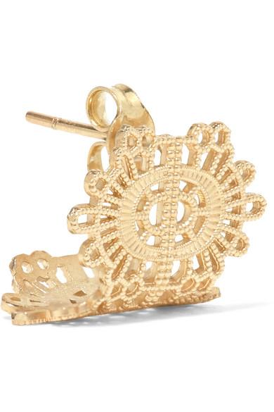 GRACE LEE Lace 14-Karat Gold Earring