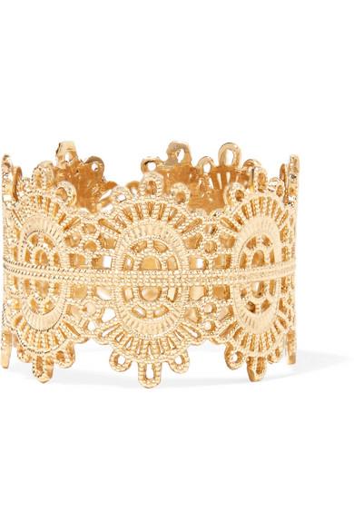 Grace Lee Designs Lace 14-karat Gold Earring KBd8DHKcGR