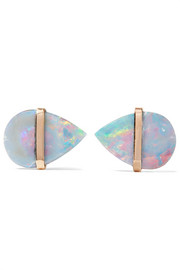 14-karat gold opal earrings
