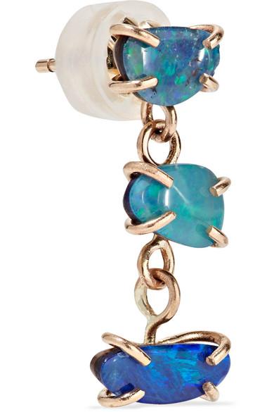 Melissa Joy Manning 14 Karat Gold Opal Earrings Net A