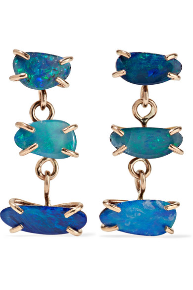 Melissa Joy Manning - 14-karat Gold Opal Earrings