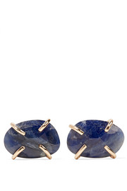 Melissa Joy Manning 14-karat gold sapphire earrings