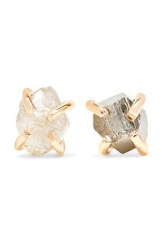 14-karat gold, pyrite and diamond earrings