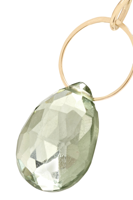 Melissa Joy Manning 14-karat gold, labradorite and amethyst earrings