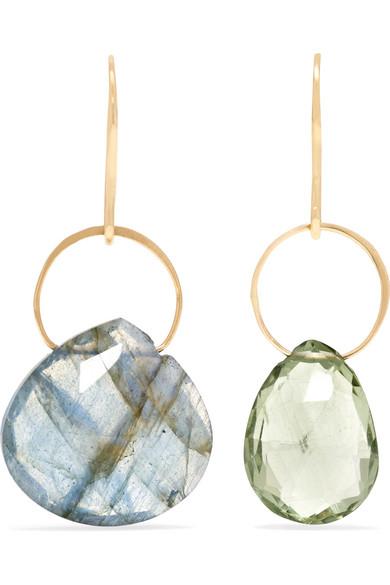 14-karat Gold, Labradorite And Amethyst Earrings - one size Melissa Joy Manning