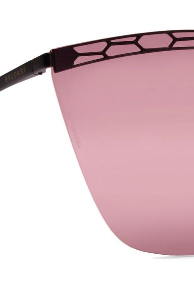 a1223dbbc5 BVLGARI. Serpenti cat-eye metal sunglasses.  450. Zoom In