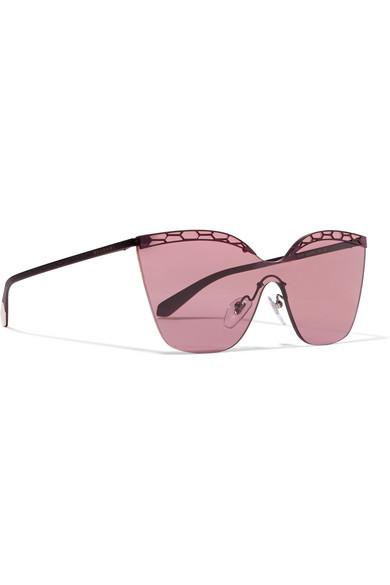 dda8276434 BVLGARI. Serpenti cat-eye metal sunglasses