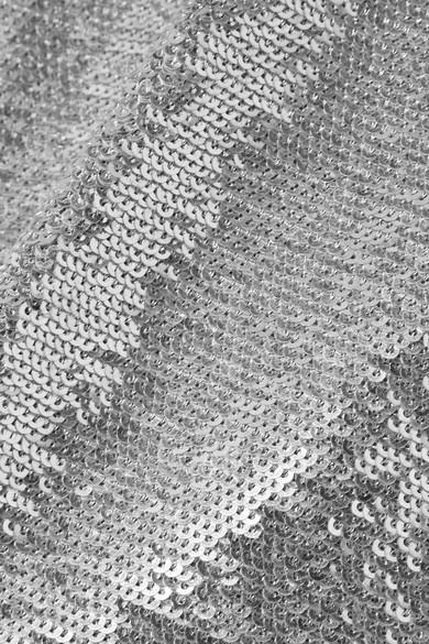 IRO Napa asymmetrisches Minikleid aus Baumwolle mit Pailletten