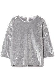 IRO Naphe oversized sequined cotton T-shirt
