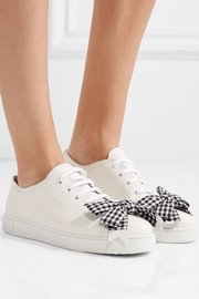 Miu Miu Bow-embellished leather sneakers