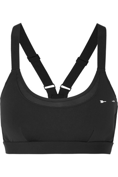 Buy Newest Shadow Matte Kristi Mesh-paneled Stretch Sports Bra - Black The Upside Sale Online Cheap Low Price Fee Shipping Online Affordable Free Shipping Manchester Great Sale 5rBCixNG