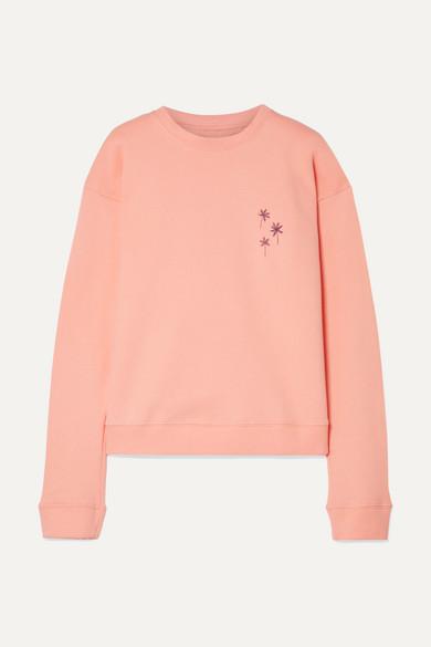 The Elder Statesman Bedrucktes Sweatshirt aus Baumwollfleece