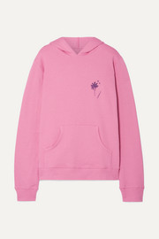 Printed cotton-fleece hooded sweatshirt