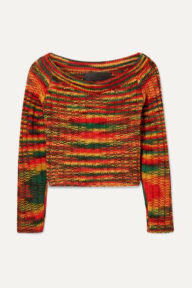 The Elder Statesman Verkürzter Pullover aus geripptem Kaschmir