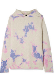 The Elder Statesman Tie-dyed cashmere hooded sweater