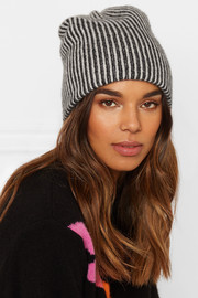 Watchman striped cashmere beanie