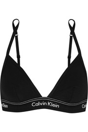 Calvin Klein Underwear Heritage Athletic stretch-cotton jersey soft-cup bra