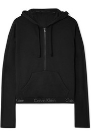 Body cotton-blend jersey hooded top