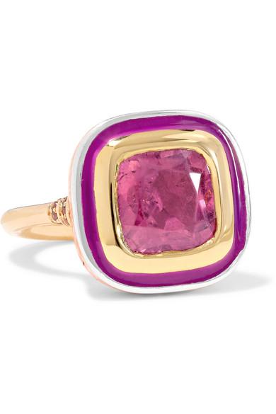 14-karat Gold, Sapphire And Enamel Ring - 6 Alice Cicolini