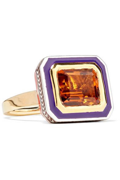 22-karat Gold, Sterling Silver, Amethyst And Enamel Ring - 6 Alice Cicolini