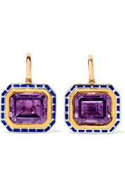 22-karat gold, sterling silver and amethyst earrings