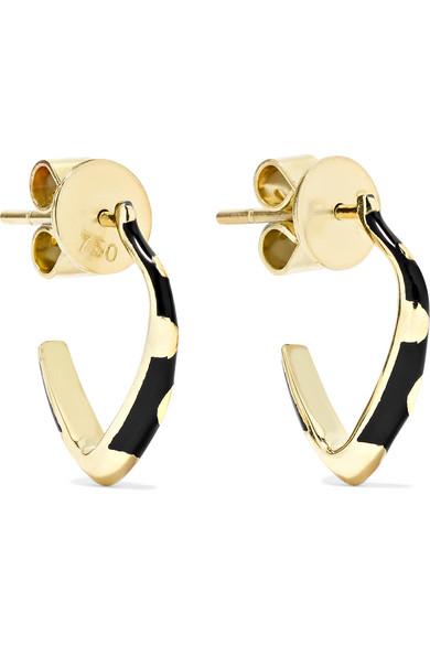 Alice Cicolini - Memphis 14-karat Gold Enamel Hoop Earrings