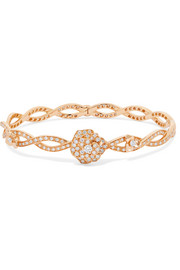 Rose 18-karat rose gold diamond bracelet